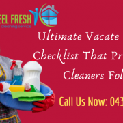Vacate Cleaning Checklist